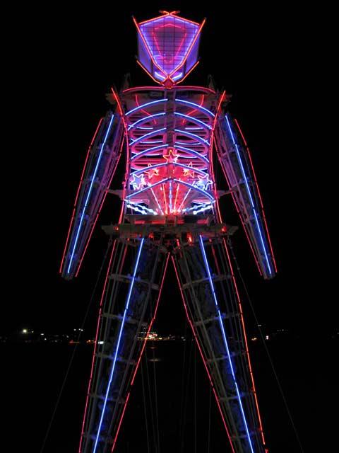 burning neon lights 2008